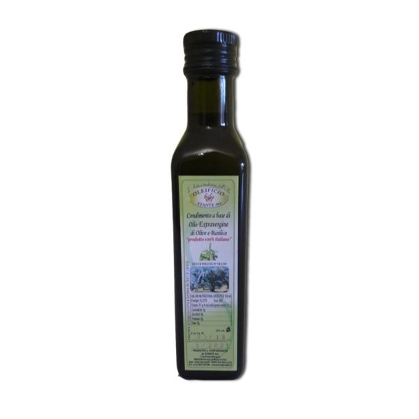 olio extra vergine basilico